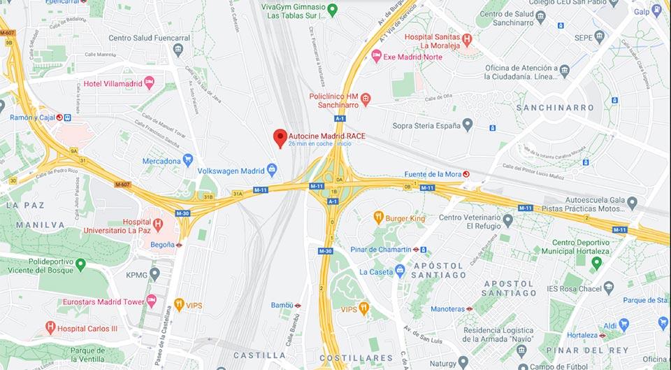 mapa madrid centro